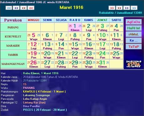 kalender horoskop jawa